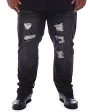 Big & Tall - Distressed Slim Straight Denim Jeans (B&T)-2589216
