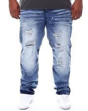 Jeans & Pants - Distressed Slim Straight Denim Jeans (B&T)-2589223