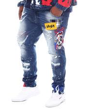 SMOKE RISE - Paint Distressed Denim Jeans (B&T)-2588450