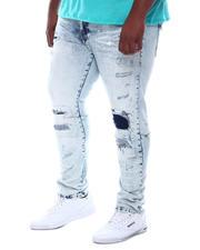 SMOKE RISE - Rip & Tear Distressed Denim Jeans (B&T)-2588471