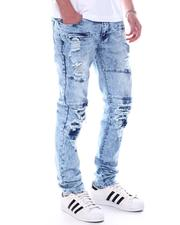 Jeans - Acid Wash Articulated Skinny fit Moto Jean-2589514