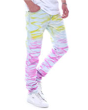 Jeans & Pants - Yellow and Pink Ripple Jean-2589264