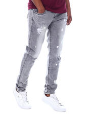 Jeans & Pants - WASHED JEAN W/ PAINT SPLATTER-2589705