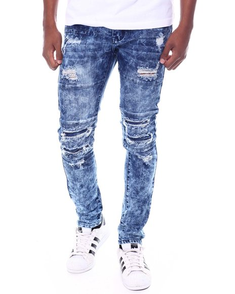 Buyers Picks - Mineral Wash Articulated Ripped Moto Jean