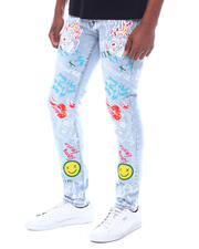 Jeans & Pants - Smiley Face Graffiti Jean-2591316