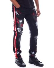 Jeans & Pants - Side Stripe Paint Splatter Jean-2591373