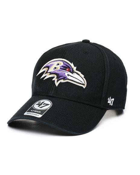 '47 - Baltimore Ravens '47 Black Legend MVP Strapback Cap