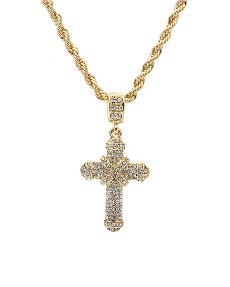 Buyers Picks - Blinged Cross Rope Chain