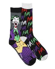 DRJ SOCK SHOP - 2Pk Joker Casual Crew Socks-2591110
