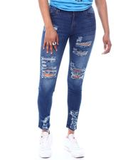 Skinny - Distressed High Waist Jeans-2586564