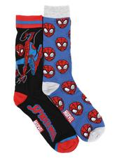 DRJ SOCK SHOP - Spiderman 2Pk Crew Socks-2591080
