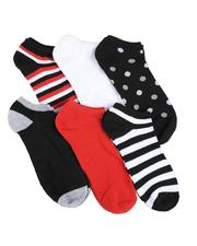 DRJ SOCK SHOP - 6Pk No Show Socks-2591755