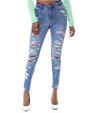 Women - Distressed Skinny Jeans-2592090