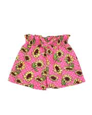 Girls - Paper Bag Waist Floral Print Shorts (2T-4T)-2590016