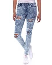 Skinny - Distressed High Waist Jeans-2586683