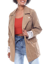 Outerwear - NVL Double Breast Blazer With Drop Shoulder and Snap s-2592025