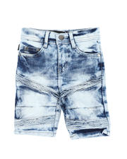 Bottoms - Stretch Moto Denim Shorts (2T-4T)-2590035