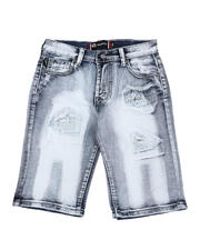 Akademiks - Rip & Repair Denim Shorts (8-18)-2590043