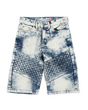 Arcade Styles - Embossed Denim Shorts (8-16)-2590407