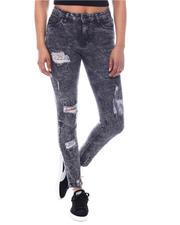 Fashion Lab - High Waist Ripped Detail Jeans-2586530