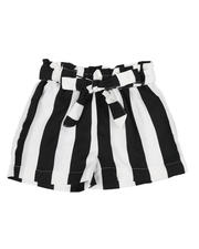 Sizes 2T-4T - Toddler - Paper Bag Waist Stripe Shorts (2T-4T)-2590007