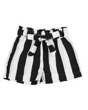 La Galleria - Paper Bag Waist Stripe Shorts (2T-4T)-2590007