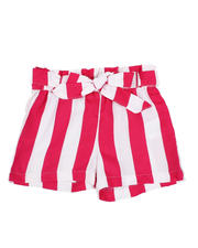 Sizes 2T-4T - Toddler - Paper Bag Waist Stripe Shorts (2T-4T)-2590012