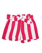 Girls - Paper Bag Waist Stripe Shorts (2T-4T)-2590012