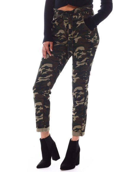 Almost Famous - Paper Bag Ruff Cuff Pants
