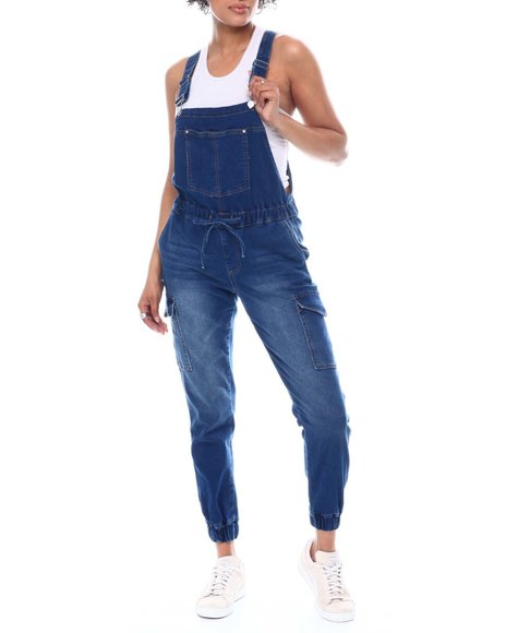Almost Famous - Cargo Double Front Bib Overalls