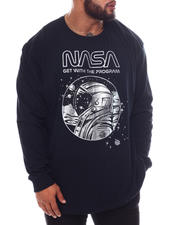 Men - NASA Astro Profile View Long Sleeve T-Shirt (B&T)-2592184