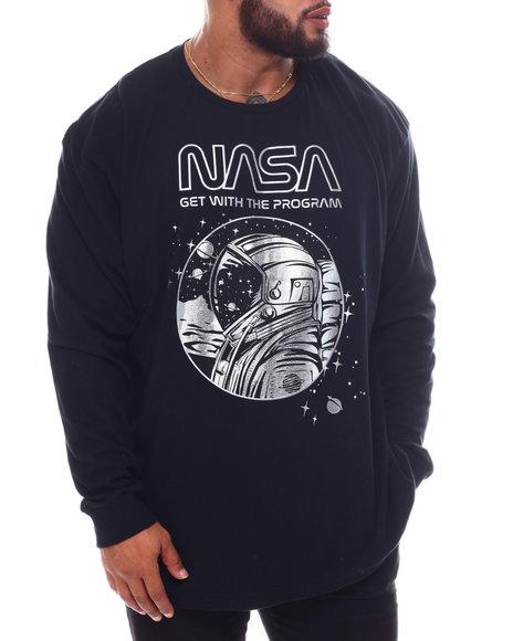 Akademiks - NASA Astro Profile View Long Sleeve T-Shirt (B&T)