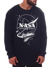 Men - NASA Flying Aircraft Long Sleeve T-Shirt (B&T)-2592196