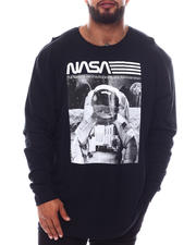 Men - NASA Astro On The Moon Long Sleeve T-Shirt (B&T)-2592226