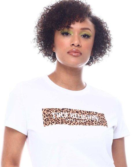 True Religion - Leopard Block Slim Crew