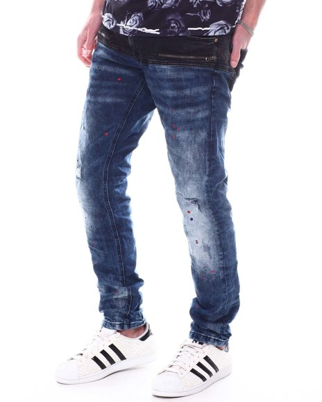 Buyers Picks - Color Block Paint Splatter Jean