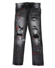 Bottoms - Splatter Ripped Skinny Jeans (8-18)-2591781