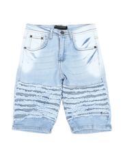 Bottoms - Stretch Moto Denim Shorts (8-18)-2592686