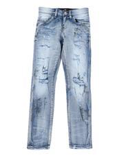 Bottoms - Splatter Ripped Skinny Jeans (8-18)-2592721