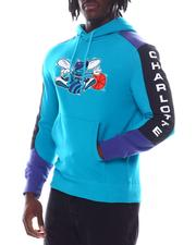 Mitchell & Ness - CHARLOTTE HORNETS Fusion Fleece Hoodie-2594045