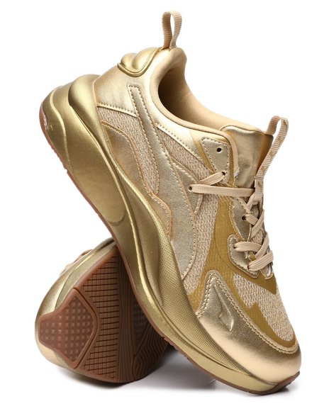 Puma - RS Curve Gold Metallic Sneakers