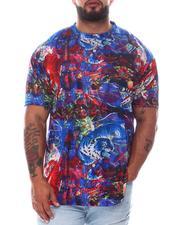 Big & Tall - Cosmical Skull Tiger Sublimated T-Shirt (B&T)-2594175