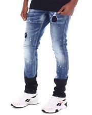 Jeans - Distressed Color Block Jean-2594107