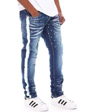 Slim - Star Embroidery with Side Stripe Paint Jean-2594980