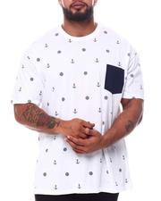 Big & Tall - Nautical Sail Printed Crew Neck T-Shirt (B&T)-2595959