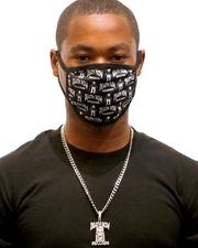 Face Coverings - King Ice x Death Row Records - All Over Face Mask-2596180