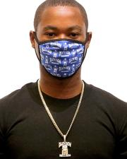 Face Coverings - King Ice x Death Row Records - All Over Face Mask-2596187