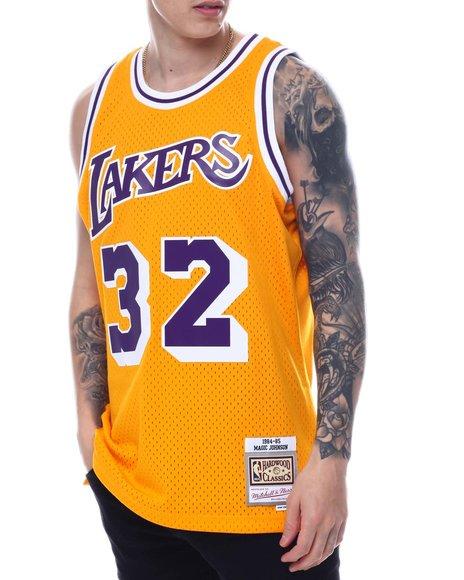 Buy LOS ANGELES LAKERS Swingman Jersey - Magic Johnson Men's ...