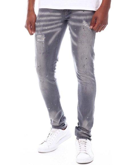 Buyers Picks - Light Grey Paint Splatter Jean