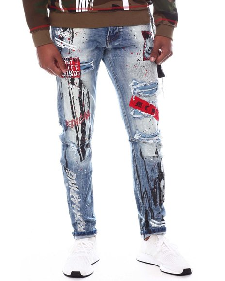 SMOKE RISE - Slim Fit Punk Jean